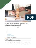 Cómo debe prepararse el auditor para mitigar el riesgo operativo.......
