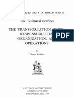 Transportation Corps Responsibilities Organization and Operations