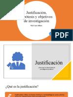 Justificación, hipótesis y objetivos de investigación