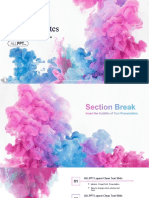 Abstract Ink Drop PowerPoint Templates