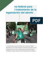 Caravana federal para exigir el tratamiento de la legalización del aborto