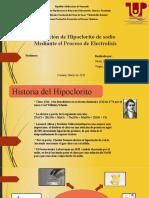 Obtención de Hipoclorito de sodio