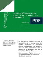 APLICACIÓN DE LA LEY PENAL EN RELACIÓN A LAS PERSONAS