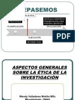 11 ASPECTOS GENERALES ÉTICA DE LA INVESTIGACIÓN