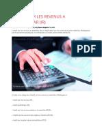 Impôt sur le revenu (IR)