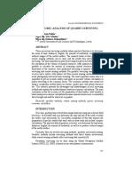 Economic Analysis of Quarry Surveying
