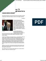 Bufera su Abu Mazen_ _Il comportamento degli ebrei fu la causa della Shoah_ - Repubblica