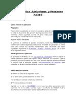 ANSES Guía Jubilaciones y Pensiones -Recursos