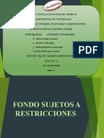 Fondos Sujetos a Restricción
