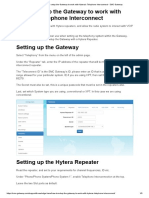 How to setup the Gateway to work with Hytera's Telephone Interconnect - SMC Gateway