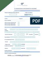 Formulário de Candidatura ao Procedimento Concursal