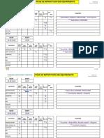 DT. EX.PL.O.40 FICHE REPARTITION EQUIPEMENT XIV