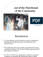 Assessment of the Nutritional Status of the Community