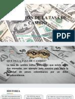 VARIACIÓN DE LA TASA DE CAMBIO