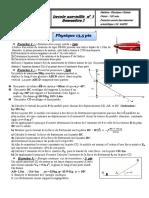 الفرض الأول في الفيزياء والكيمياء المسلك الدولي الأولى باك علوم رياضية 1)