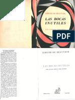 Simone de Beauvoir (1957) - Las bocas inútiles