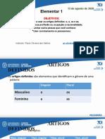 ELEM 1 - Agosto CIDUP 2020  aulas T & Q(3).ppt