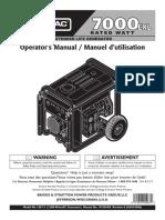 Generac 7000EXL OperatorsManual