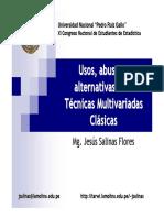 Usos, abusos y alternativas a las Técnicas Multivariadas clasicas-Mg Jesus Salinas