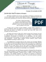 Comunicado Caacupe -CEP 2020