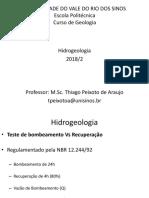 Aula 05 Hidrogeologia