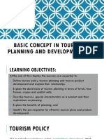 Basic Concept in Tourism Planning & Development