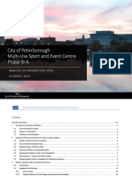 City of Peterborough multi-use sport and event centre site analysis
