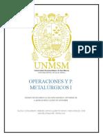 INFORME 4  TIEMPO DE RESIDENCIA DE ESPESADORES