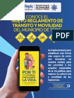 Nuevo Reglamento de tránsito y movilidad del municipio de Tepic