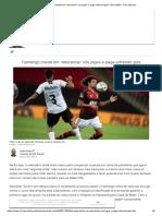 Flamengo insiste em descansar nos jogos e paga sofrendo gols