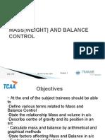 MASS AND BALANCE  CONTROL