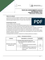 Informação Teste de Agrupamento Ciências Naturais 6 Ano