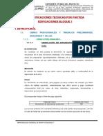 01 Especificaciones Tecnicas EDIFICACIONES BLOQUE 1