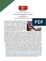 Boletín CVPI, 2020, Octubre-Noviembre -La educacion jesuita llamada a revisión