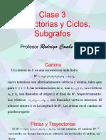 Trayectorias, Ciclos y Subgrafos