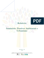 PASSIVOS AMBIENTAIS E URBANISMO