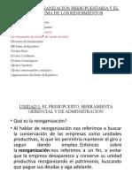 Unidad 2 - Organizacion Presupuestaria y el Problema de los Rendimientos