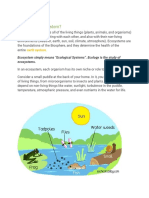 ECOSYSTEM Environmental Science