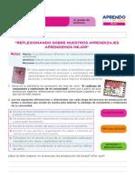 FICHA DE AUTOAPRENDIZAJE COMUNICACIÓN -SESION EVALUACIÓN CUARTO GRADO.pdf