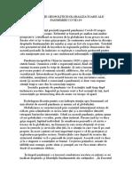 Consecințe geopolitice ale Pandemiei Covid-19