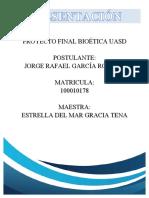 Informe proyecto final bioética