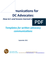 Communications for DC Advocates