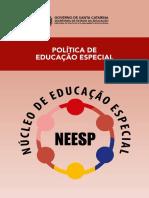 Caderno - Política de Educação Especial - NEESP