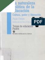 Freire Naturaleza Politica Educacion, Acto Estudiar Páginas-1,29-32