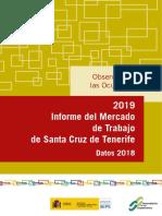 Mercado de Trabajo 2019 Santa Cruz de Tenerife (Datos 2018)