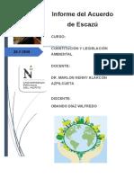 Constituciòn y Legislaciòn Ambiental