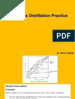 Continuous Distillation Practice 1