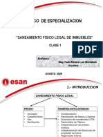 CURSO SANEAMIENTO FISICO LEGAL DE PREDIOS CLASE 1