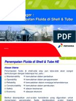 Penempatan Fluida di Shell-Tube