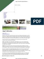 Algae 101 Part Nine_ Algal Cultivation _ Algae Industry Magazine
